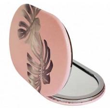 Зеркало Листья на розовом