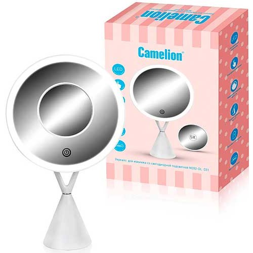 Зеркало для макияжа Camelion 5X с LED подсветкой